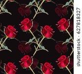 elegant seamless pattern with... | Shutterstock .eps vector #627818327