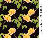 elegant seamless pattern with... | Shutterstock .eps vector #627818333
