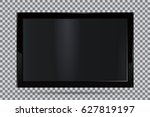 tv  modern blank screen lcd ... | Shutterstock .eps vector #627819197