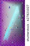 alphabet a text pattern... | Shutterstock .eps vector #627821027