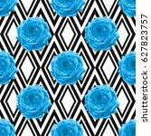 elegant seamless pattern with... | Shutterstock .eps vector #627823757