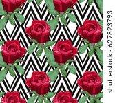 elegant seamless pattern with... | Shutterstock .eps vector #627823793
