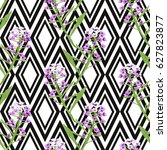 elegant seamless pattern with... | Shutterstock .eps vector #627823877