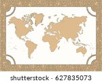 illustration   map of the world ... | Shutterstock .eps vector #627835073