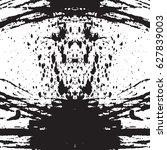 black and white vintage grunge... | Shutterstock .eps vector #627839003