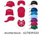sportswear baseball caps   ... | Shutterstock .eps vector #627839333