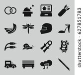 Outline Icons Set. Set Of 16...