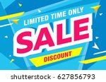 sale template banner in bright... | Shutterstock .eps vector #627856793