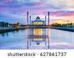landscape of beautiful sunset...   Shutterstock . vector #627861737