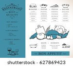 placemat design template vector ... | Shutterstock .eps vector #627869423