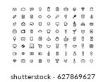 set of web icons media and... | Shutterstock .eps vector #627869627