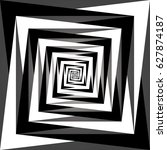 vector black and white abstract ... | Shutterstock .eps vector #627874187