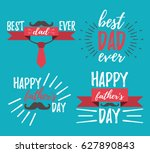 happy father's day banner and... | Shutterstock .eps vector #627890843