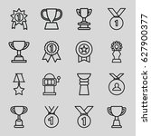 prize icons set. set of 16... | Shutterstock .eps vector #627900377