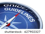 3d rendering of an compass with ... | Shutterstock . vector #627902327