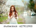 spring beautiful romantic red... | Shutterstock . vector #627911903