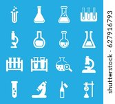 lab icons set. set of 16 lab... | Shutterstock .eps vector #627916793