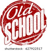 old school red grunge style... | Shutterstock .eps vector #627922517