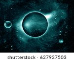 stars of a planet and galaxy in ... | Shutterstock . vector #627927503