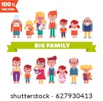 vector set of characters in a... | Shutterstock .eps vector #627930413
