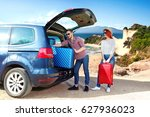 summer car trip and landscape...   Shutterstock . vector #627936023
