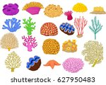 set of colorful corals  clamp... | Shutterstock . vector #627950483