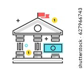 color box icon  bank law... | Shutterstock .eps vector #627966743