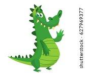 cartoon crocodile. vector... | Shutterstock .eps vector #627969377