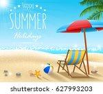summer beach background   Shutterstock . vector #627993203