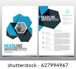 abstract vector modern flyers... | Shutterstock .eps vector #627994967