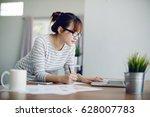 asia businesswoman entrepreneur ... | Shutterstock . vector #628007783