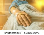 cancer patient with perfusion... | Shutterstock . vector #628013093
