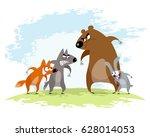 vector illustration of a four...   Shutterstock .eps vector #628014053