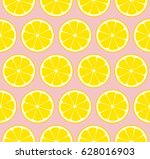 pink lemonade seamless vector... | Shutterstock .eps vector #628016903