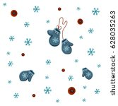 Winter Pattern Of Blue...