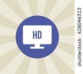hd monitor icon. sign design....
