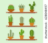 cactus icon vector illustration ... | Shutterstock .eps vector #628048457