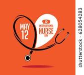international nurse day icon... | Shutterstock .eps vector #628054283