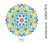 indian colorful  mandala... | Shutterstock .eps vector #628067873