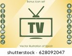 tv icon vector illustration eps ... | Shutterstock .eps vector #628092047