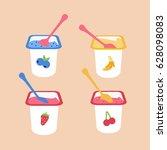 tasty   delicious flat design... | Shutterstock .eps vector #628098083