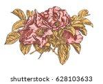 vector clipart flowers of wild...   Shutterstock .eps vector #628103633