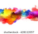explosion of colored powder ... | Shutterstock . vector #628112057