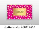 pink and gold design templates...   Shutterstock .eps vector #628112693