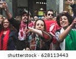 milan  italy   april 25  pro... | Shutterstock . vector #628113443