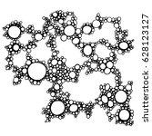 soap foam isolated vector... | Shutterstock .eps vector #628123127