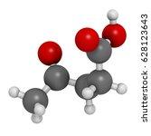 levulinic acid molecule. made... | Shutterstock . vector #628123643
