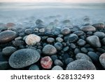 Rock Stones At Ocean Coast At...