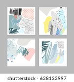set of creative universal art... | Shutterstock .eps vector #628132997
