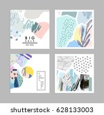 set of creative universal art... | Shutterstock .eps vector #628133003